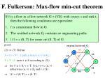 f fulkerson max flow min cut theorem3