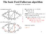 the basic ford fulkerson algorithm example of an execution14