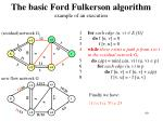 the basic ford fulkerson algorithm example of an execution16