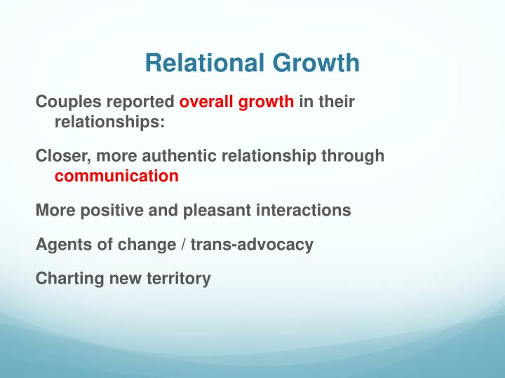 Relational Growth