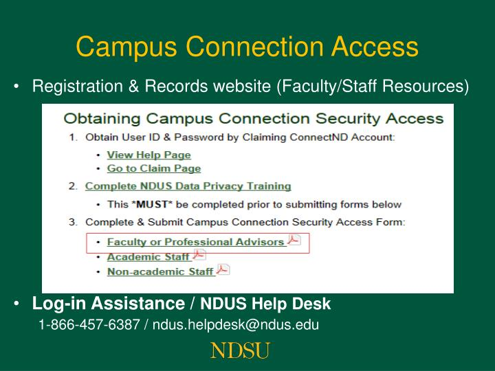 Campus Connection Access