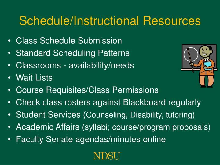 Schedule/Instructional