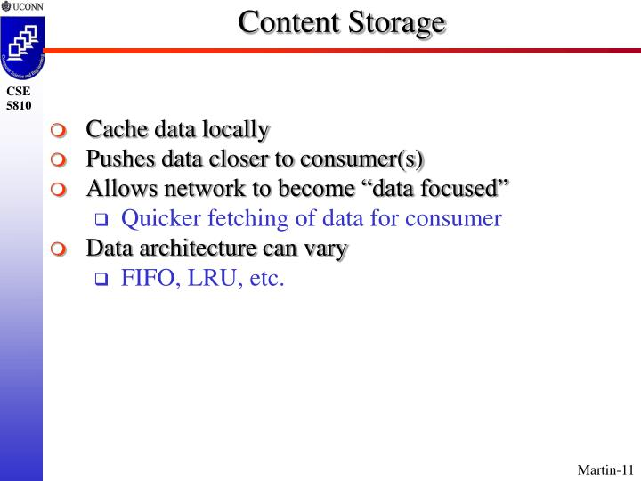 Content Storage