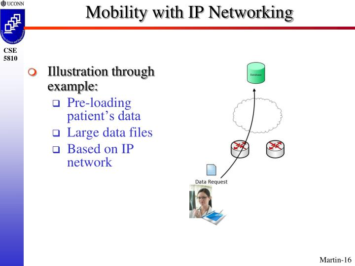 Mobility with IP Networking