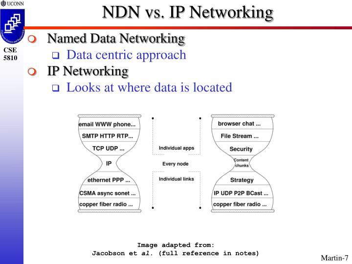 NDN vs. IP Networking