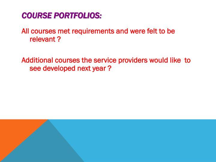 Course Portfolios: