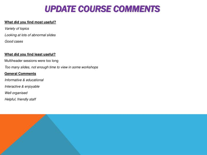 Update Course Comments