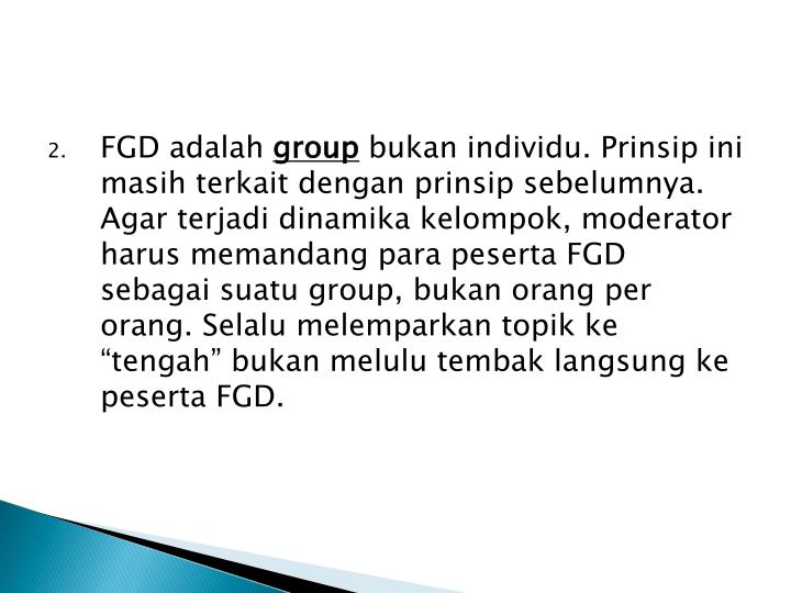 FGD adalah