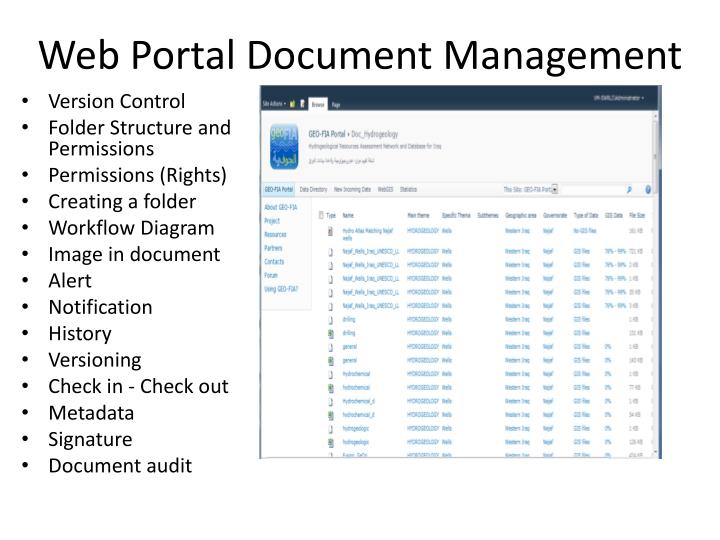 Web Portal Document Management