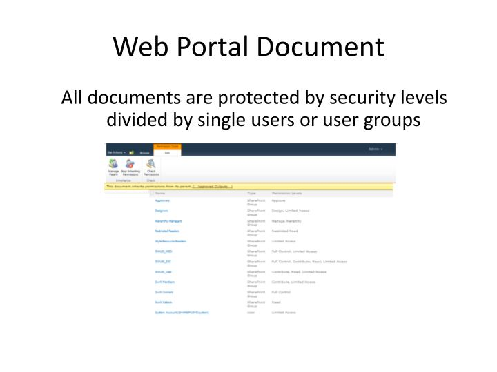 Web Portal Document