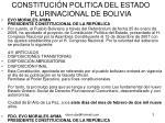 constituci n politica del estado plurinacional de bolivia