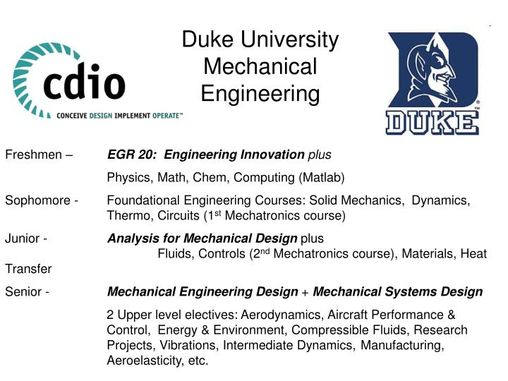 Ppt Duke University Mechanical Engineering Powerpoint Presentation Free Download Id 7081846