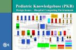 pediatric knowledgebase pkb design issues hospital computing environment