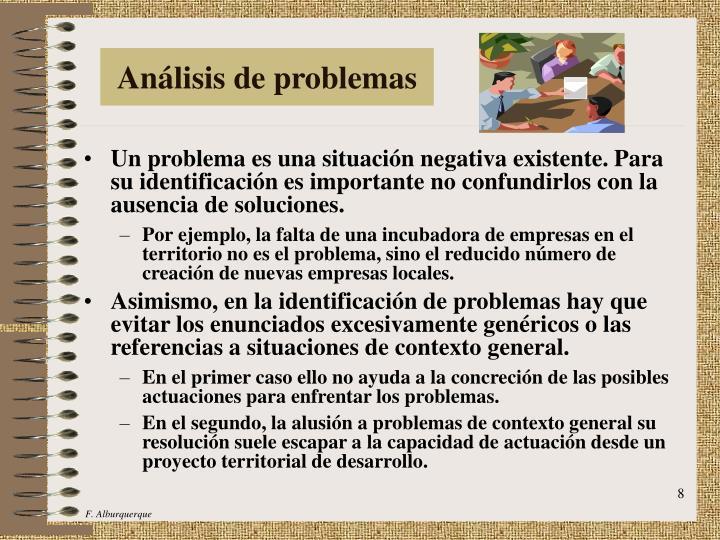 Análisis de problemas