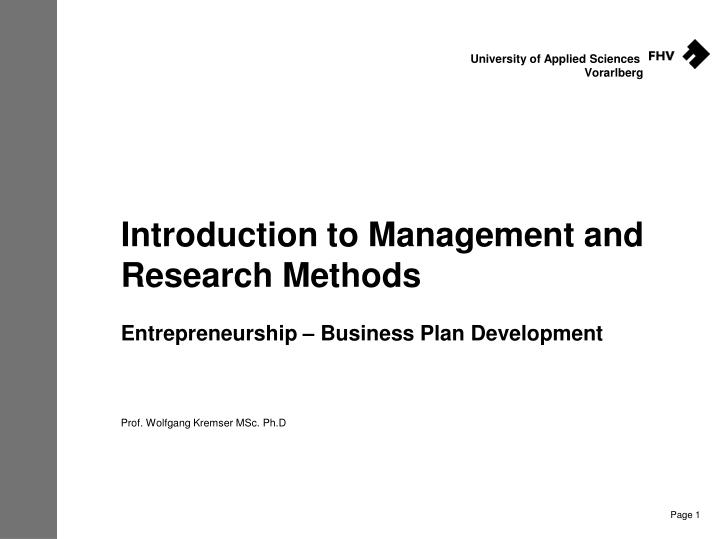 an introduction to management and organization plan Lower-level managers a good idea of the future plans for each department in an  organization.