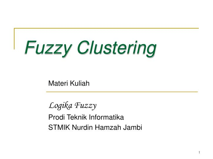 fuzzy clustering thesis Comparative analysis of k-means and fuzzy c-means algorithms soumi ghosh department of computer science and engineering, amity university, uttar pradesh  bezdek [5] introduced fuzzy c-means clustering method in 1981, extend from hard c-mean clustering method fcm is an.