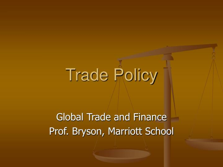 trade policy n.