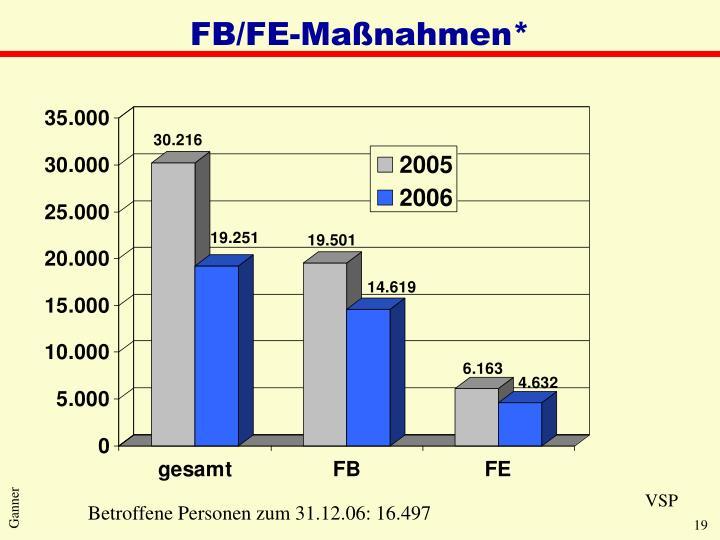 FB/FE-Maßnahmen*