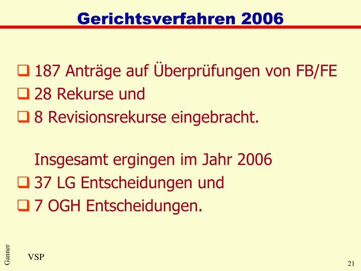 Gerichtsverfahren 2006