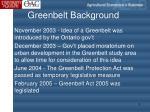 greenbelt background