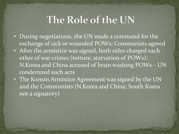 The Role of the UN