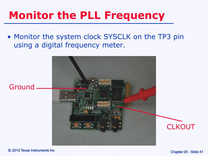 Monitor the PLL Frequency