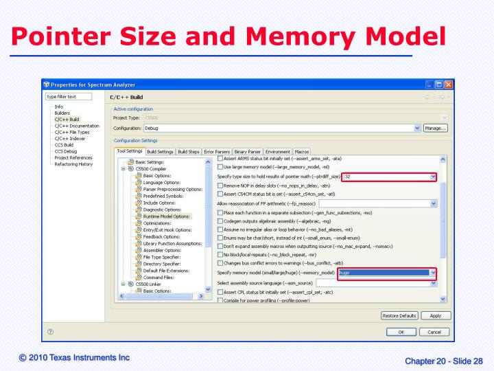 Pointer Size and Memory Model
