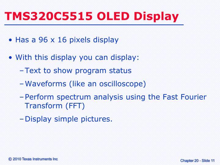 TMS320C5515 OLED Display