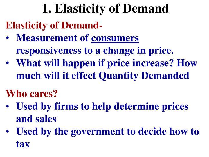 1. Elasticity of Demand