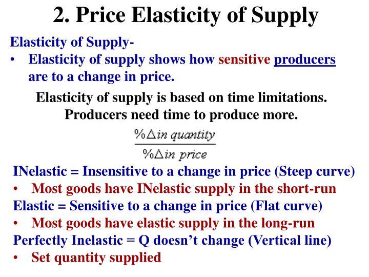 2. Price Elasticity of Supply