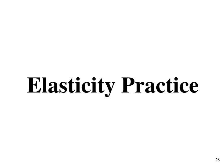 Elasticity Practice