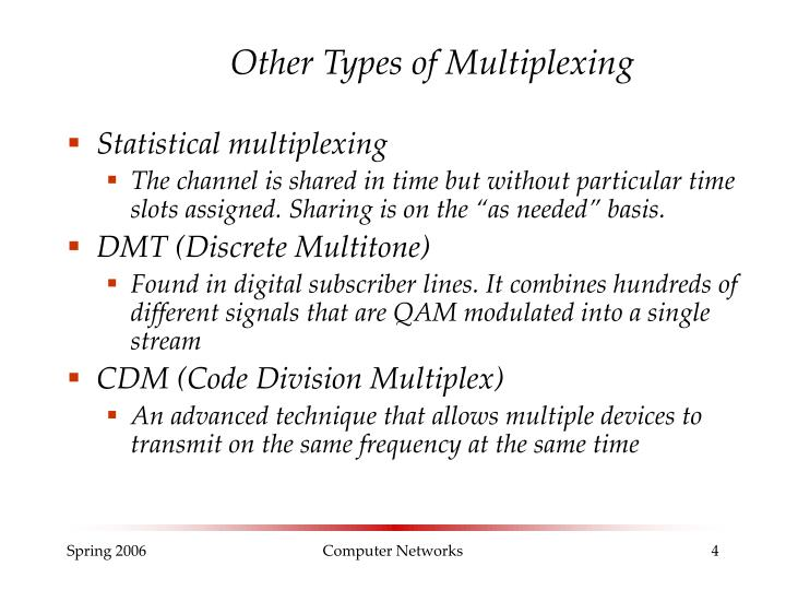 Other Types of Multiplexing