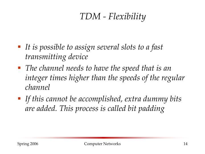 TDM - Flexibility