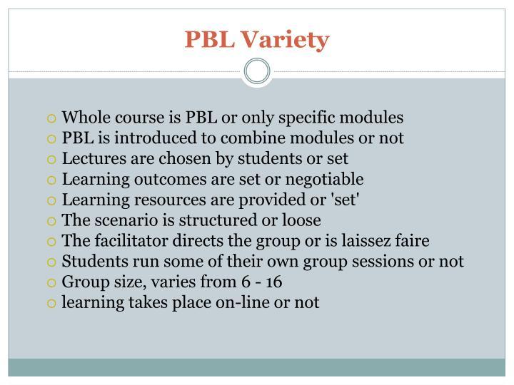 PBL Variety