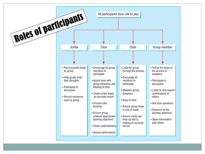Roles of participants