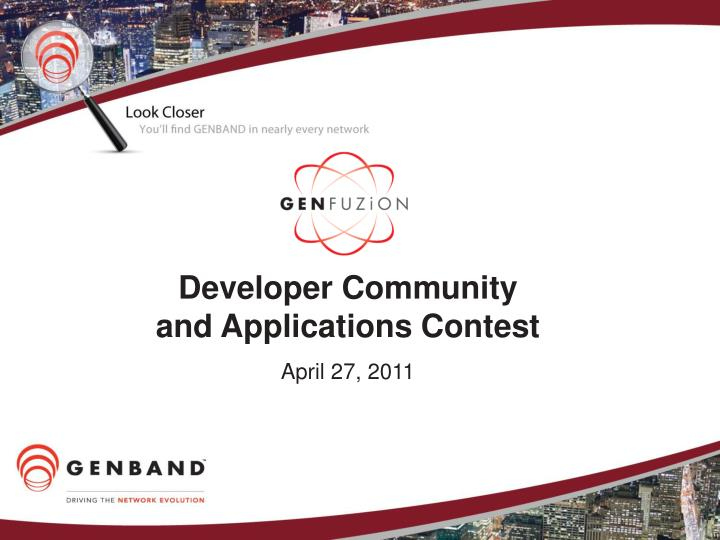 developer community and applications contest n.