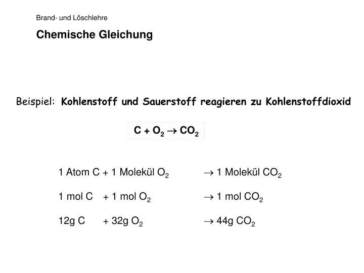 Chemische gleichung