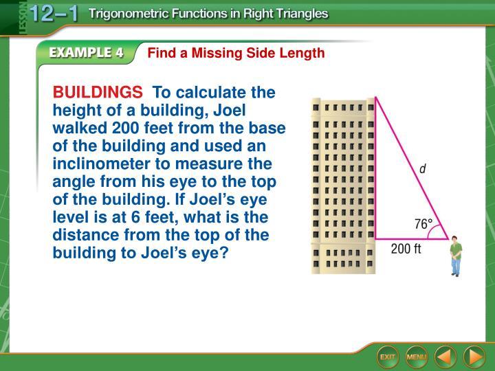 Find a Missing Side Length