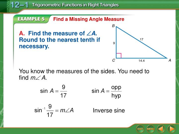 Find a Missing Angle Measure