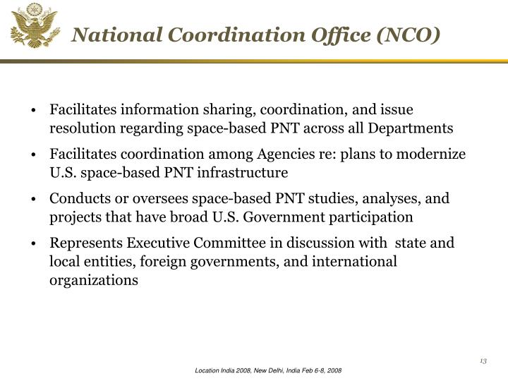 National Coordination Office (NCO)