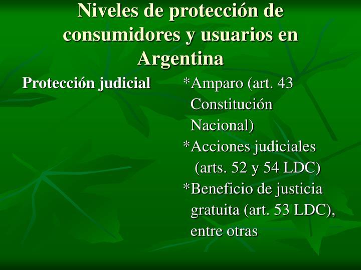 Niveles de protecci n de consumidores y usuarios en argentina1