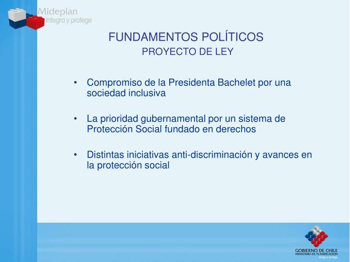 Fundamentos pol ticos proyecto de ley