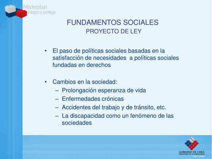 Fundamentos sociales proyecto de ley