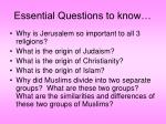 essential questions to know