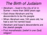 the birth of judaism
