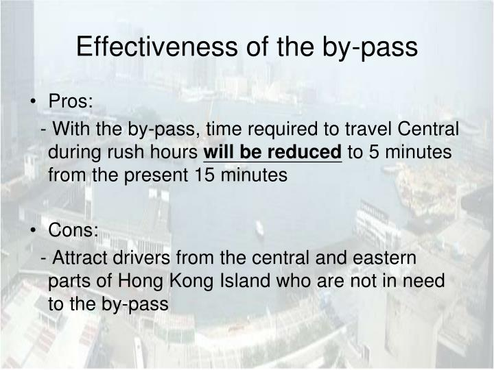 Effectiveness of the by-pass