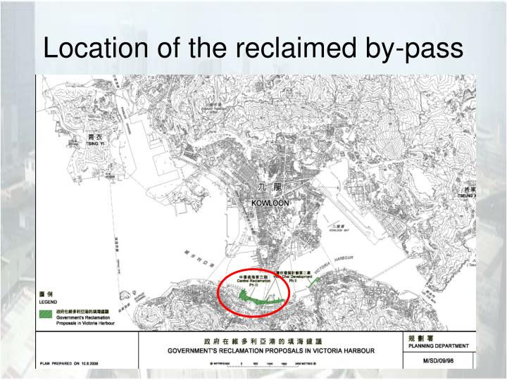 Location of the reclaimed by pass