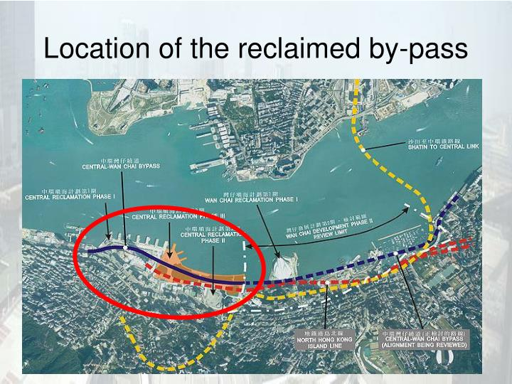 Location of the reclaimed by-pass