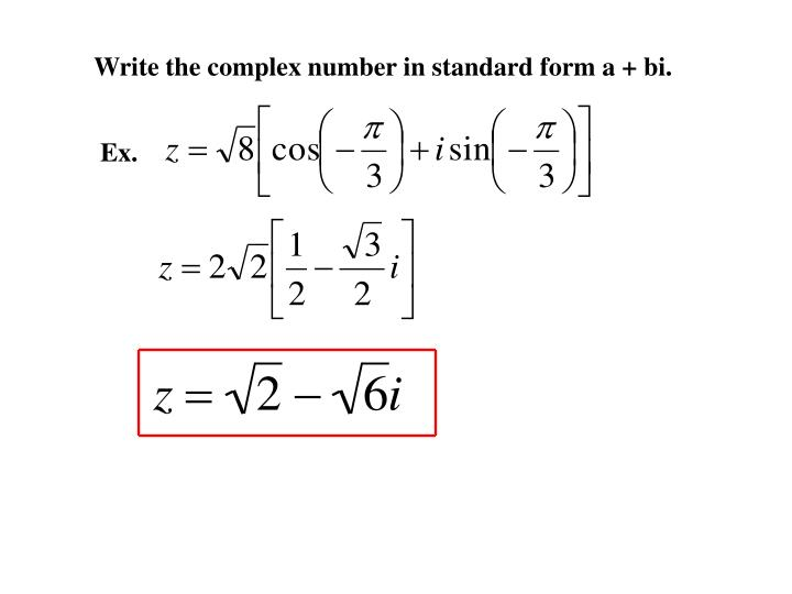 Ppt 65 Trig Form Of A Complex Number Powerpoint Presentation