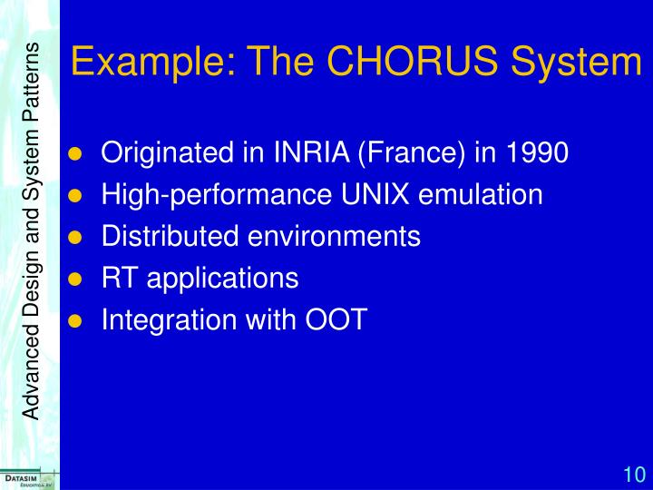 Example: The CHORUS System
